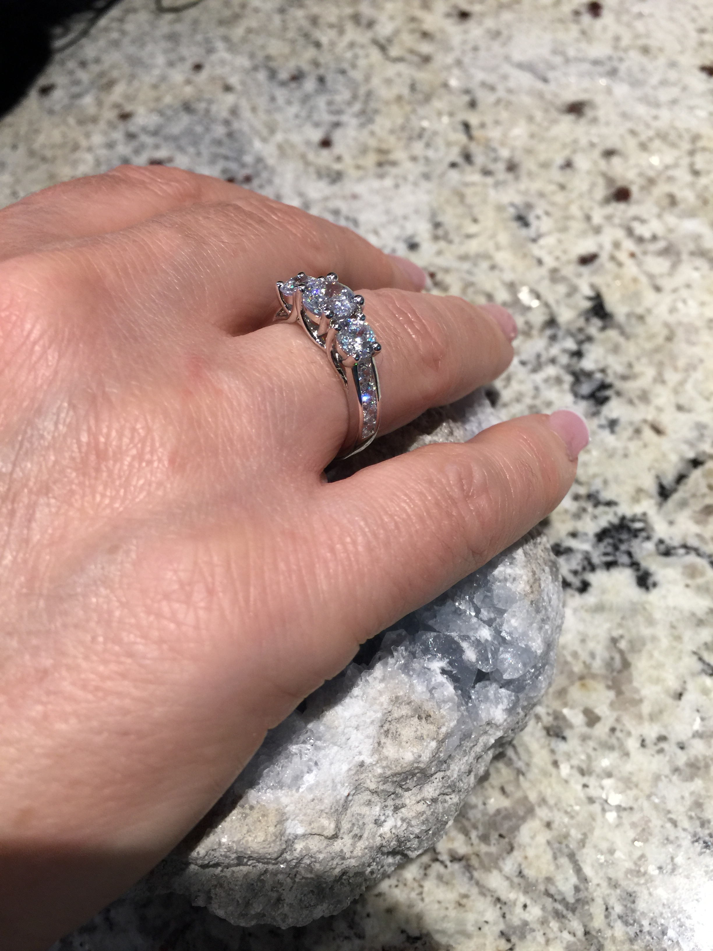 Rings :: Engagement/Fashion Rings/Bands :: NANA Three Stone ...