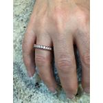 NANA Anniversary Wedding Band in Sterling Silver, 10k or 14k, White, Yellow or Rose Gold (Euro Shank)