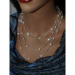 White Genuine Fresh Water pearls Necklace