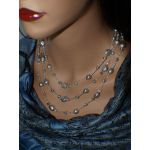 NANA Jewels Silver/Grey genuine Fresh Water pearls Pearl Necklace