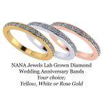 NANA Jewels Lab CVD Diamond Wedding Anniversary Band 1/5ctw 10kt Gold