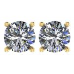 NANA Jewels Stud Earrings-Sterling Silver Round Cut Swarovski Zirconia  .30ct to 8.00ct twt. Hypoallergenic