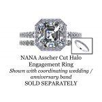 NANA Jewels 2ctw Asscher Cut Swarovski Pure Brilliance Zirconia Engagement Wedding Ring Sterling Silver