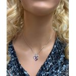 Mother & Child Heart Birthstone Necklaces w/ 1 to 6 Stones in Sterling Silver, 10K, or 14K Gold