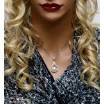 Chandelier Dancing Stone Necklace made w/Swarovski Zirconia in Sterling Silver