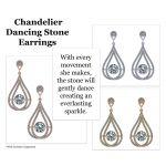 NANA Jewels Sterling Silver & CZ Dangle Dancing Diamond Chandelier Earrings