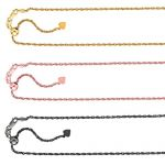 NANA Jewels Sterling Silver Diamond Cut Rope Chain, Made in Italy, White/Yellow/Rose Gold Plated