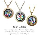NANA Stainless Steel Mother's Locket Pendant (Jan-Dec) Yellow/White/Rose Plated with a Chain