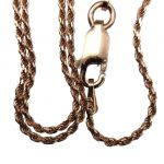 NANA Jewels Sterling Silver Loose Rope Chain-Made in Italy, White, Yellow or Rose Gold Plated