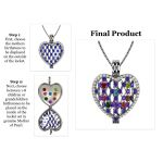 NANA Jewels Ultimate Heart of Hearts Mothers Locket Necklace Pendant in Sterling Silver & Mother of Pearl
