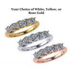 NANA Jewels Simulated Diamond Ring, Swarovski Zirconia Sterling Silver or 10k Gold Anniversary Ring, Simulated Diamond wedding band