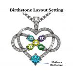 NANA Jewels Infinity Love Mother & Child Necklace w/ 1-5 Simulated Birthstones in Silver, 10K, or 14K Gold