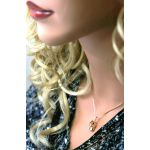 NANA Jewels Baby Shoe Charm or Pendant-Necklace made with Swarovski Zirconia in Sterling Silver, 10k or 14k Gold