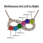NANA Jewels Infinity Mothers Birthstone Necklaces for Women w/ 1 to 6 Stones in Sterling Silver, 10K, or 14K Gold