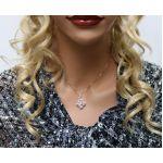 NANA 4 Points Dancing Stone Pendant Necklace, Sterling Silver & Swarovski Zirconia