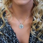 """NANA Jewels Sterling Silver """"Shema Israel"""" Pendant with a CZ Bezel and a 22"""" Adjustable Box Chain (Med-Partial)"""