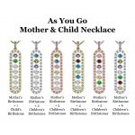 As You Go Add a Birthstone Gold Plated Sterling Silver Mother's Necklace w/ 1-7 Birthstones