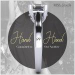 NANA Jewels Sterling Silver Asscher Cut Lucita Solitaire Engagement Ring Pure Brilliance Swarovski Zirconia