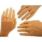 NANA Jewels Swarovski Zirconia Wedding Band, Sterling Silver, 10k or 14 karat Gold, White/Yellow/Rose