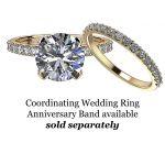 NANA 10k Round Brilliant Cut Solitaire Engagement Ring Made with Pure Brilliance Swarovski Zirconia