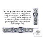 Anniversary Band Ring Channel Set w/ 0.75ctw Swarovski Zirconia in Silver, 10K, or 14K Gold