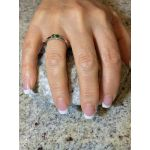 Lucita Couples Ring w/ 2 Simulated Birthstones in Sterling Silver, 10K or 14K Gold