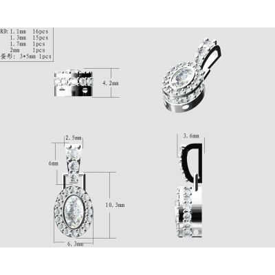 """MAMA Sterling Silver Oval Add-a-link Bithstone Pendant with a 1mm 22"""" Adjustable  Box Chain"""