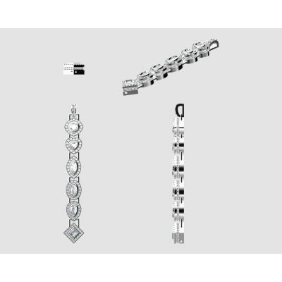 """MAMA Sterling Silver Add-a-link Mix & Match Birthstone Pendant with a 1mm 22"""" Adjustable Box Chain"""