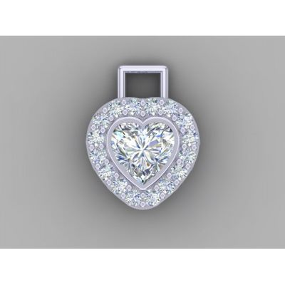 "MAMA Sterling Silver Heart Add-a-link Bithstone Pendant with a 1mm 22"" Adjustable Box Chain"