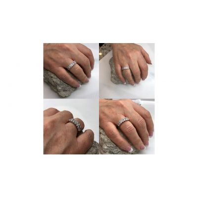 NANA Marquise Cut Lucita Style 1 to 7 Birthstones - Mother's Birthstone Ring in Sterling Silver, 10k or 14k Gold
