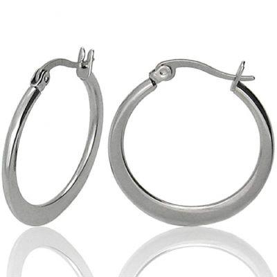 Stainless Steel Hoop Earrings Modern Metal Jewelry