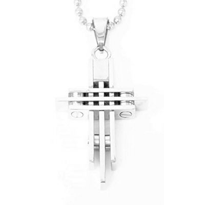 Stainless Steel Cross Style Pendant/Necklace Unisex Modern Metal Jewelry