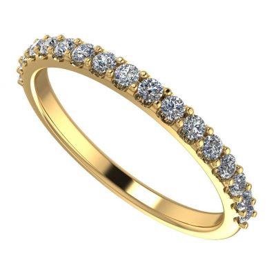 NANA Jewels 1/4ct Diamond Wedding Band, Stackable Ring, 14 karat White, Yellow or Rose Gold