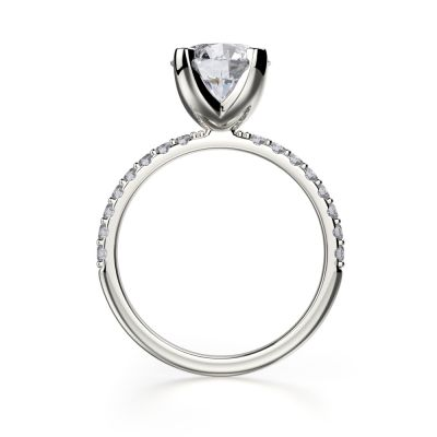 NANA Jewels Round Brilliant Cut 7.5mm Center Solitaire Engagement Ring Made with Pure Brilliance Swarovski Zirconia
