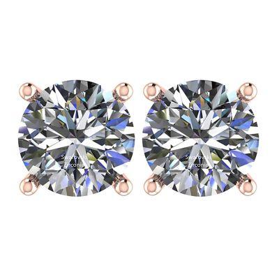 NANA Jewels Stud Earrings-Sterling Silver Round Cut Swarovski Zirconia  .30ct to 8.00ct twt. Hypoallergenic