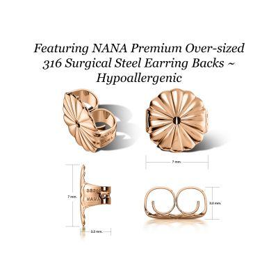 NANA Jewels Sterling Silver Asscher-Cut Swarovski Zirconia Stud Earrings,(4 cttw) Hypoallergenic