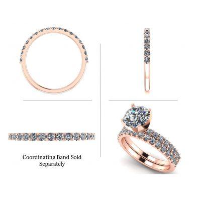 NANA Jewels 1.0-4.0ct Swarovski Zirconia Round Brilliant Cut Solitaire Engagement Ring Sterling Silver