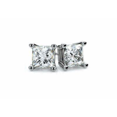 NANA Swarovski Zirconia Heart Dancing Stone Earrings Sterling Silver